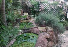 3 Ponds made from recycled bathtubs.