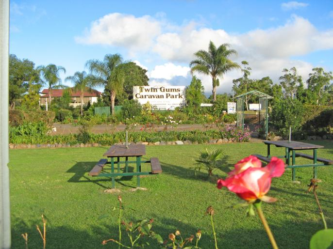 Rose gardens around the picnic area