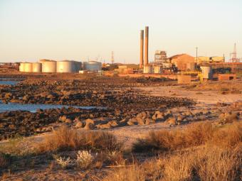 Dampier Port for large iron ore tankers