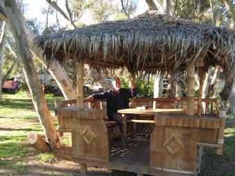 Happy hour in the Bali hut