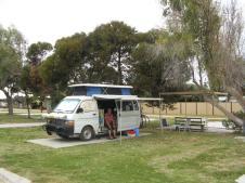 Lancelin caravan park almost deserted
