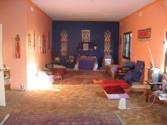 Jacks sleeping quarters with buddha