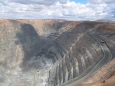 Smalll corner of the super pit. can you see the trucks?
