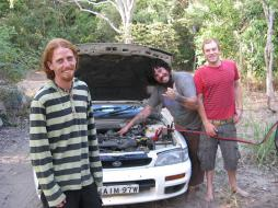 Rory and friends fixing his car