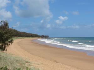 The beach next morning