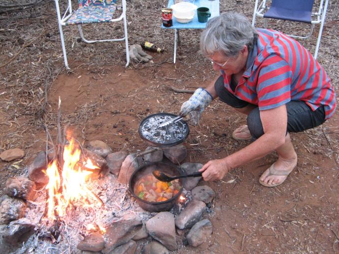 Camp fire cooking, yummy...