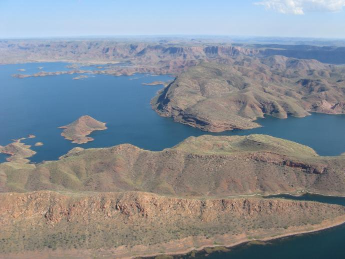 Lake Argyle used for the irrigation of this huge vegetable growing area