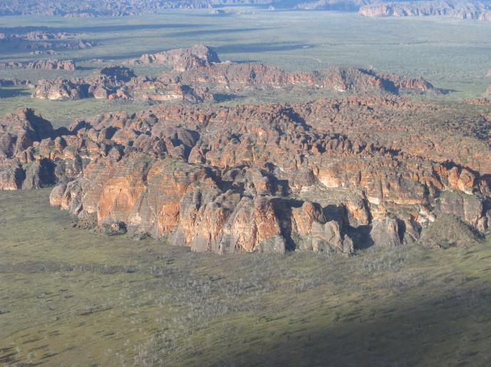 Bungle Bungles from the air
