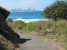 Burleigh Heads ocean track
