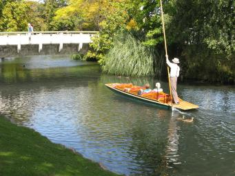 Punting on the Avon River Christchurch NZ