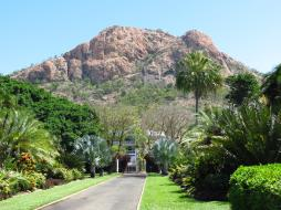 Castle Hill overlooks the gardens