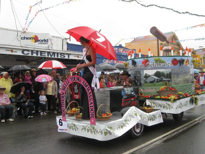 The rain wasn't going to stop this parade..,
