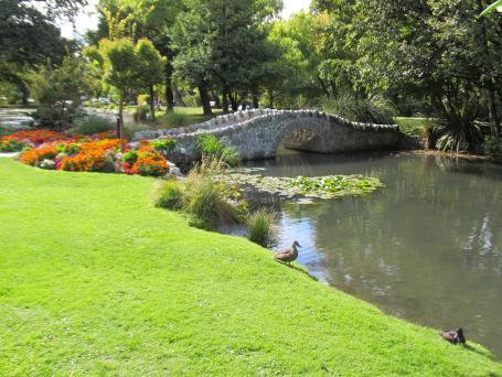 Queenstown Botanic Gardens cute bridge