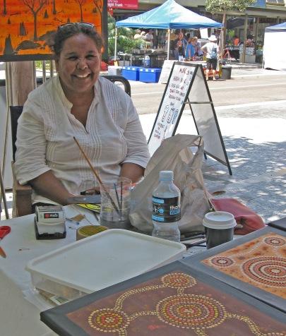 Aboriginal artist Townsville Markets