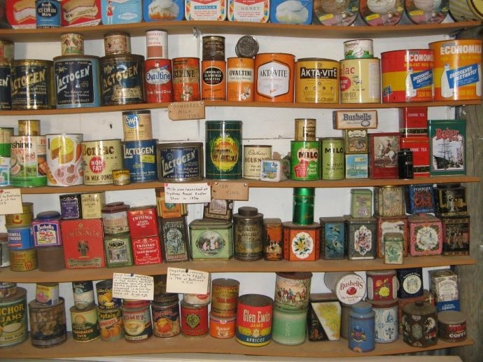 Grocery store shelves. Can you remember any of these grocery items?