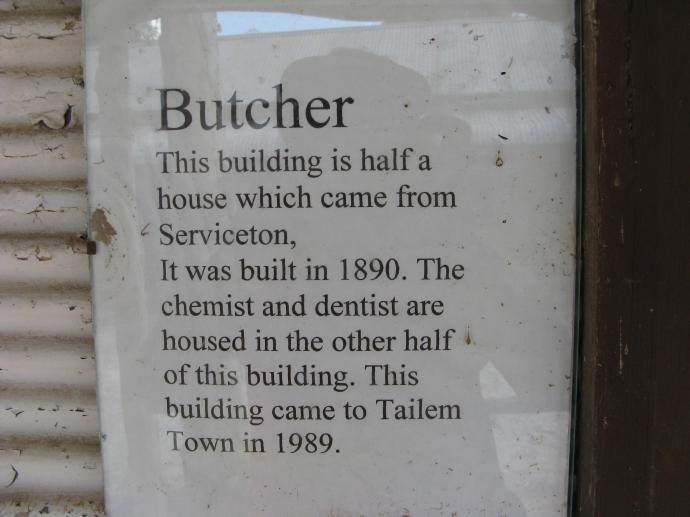 Butchers shop information