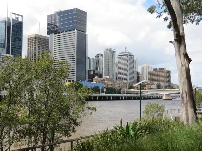 Brisbane CBD across the Brisbane river