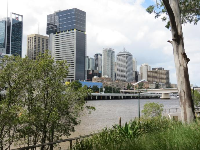 Brisbane CBD across the Brisbane river