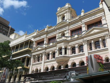 Heritage building in Queen Street Mall