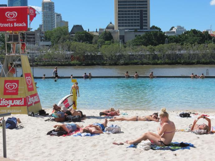South Bank beach area
