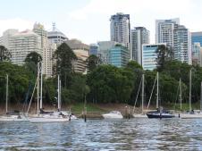 Yachts at mooring