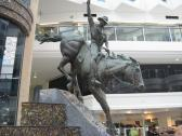 Iconic bronze statue of the man from Snowy River in the Niecon Centre