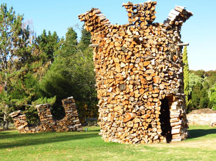 The wood pile...