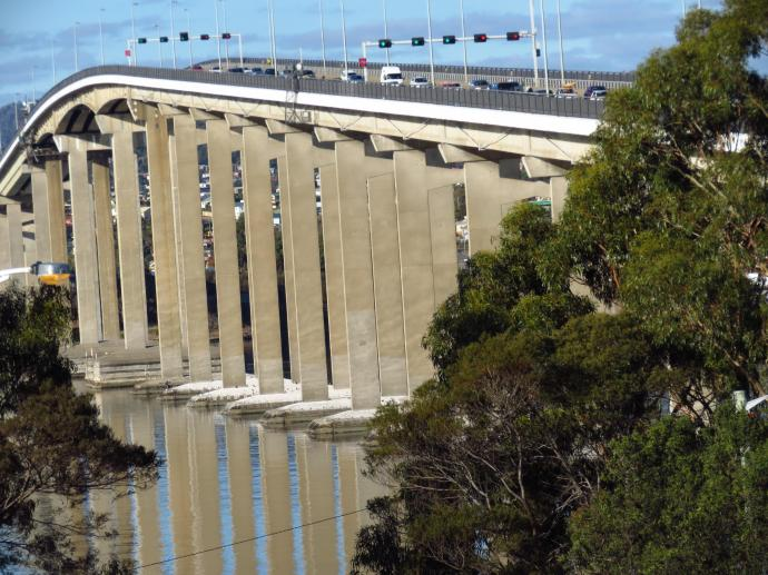 Tasman Bridge reflections