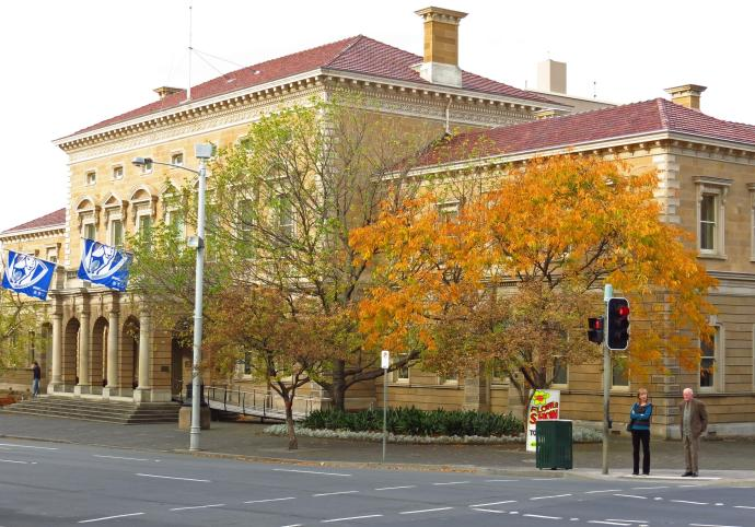 Hobart's beautiful heritage Town Hall