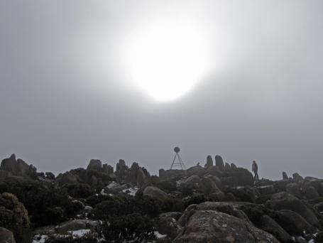 Photo by Jack The sun is an eerie presence through the low cloud