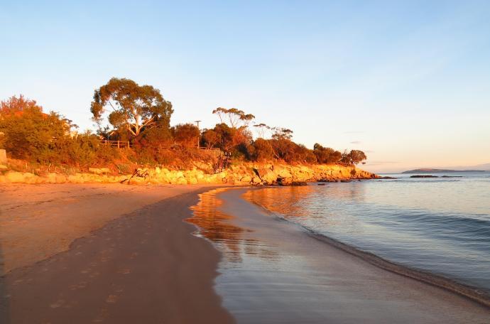 Sunset Belerive beach