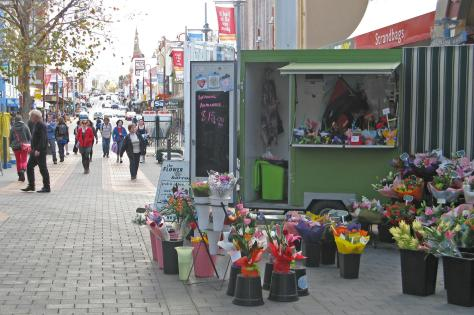 Flower stall in the Mall