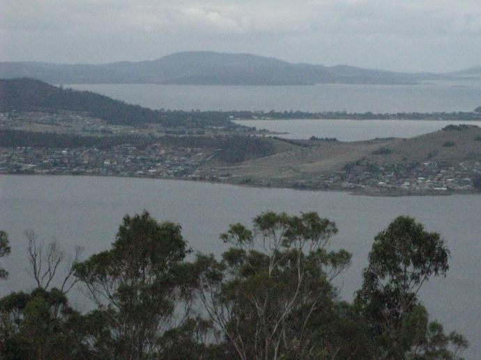 Looking across the Derwent River