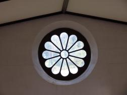 The only window in the prisoners chapel