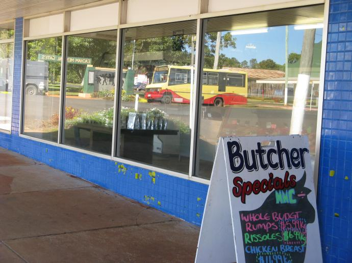 The butchers shop. Just look at those interesting reflections