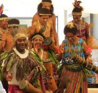Papua New Guinea dance group