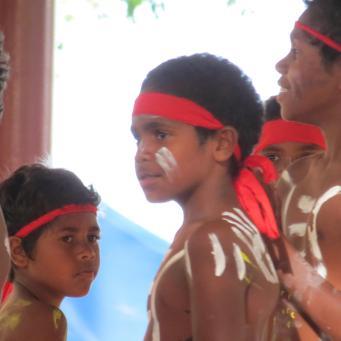 Young Aboriginal dancers