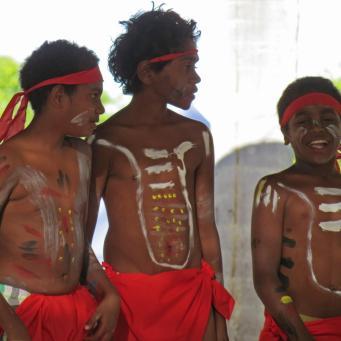 Young Aboriginal dancers.