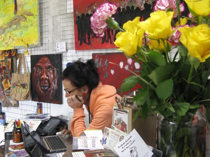 Debbie and partner Jo run the Art Garage, an inspirational place full of art work
