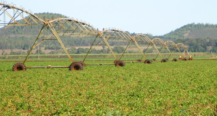 These huge irrigation machines (is that the correct name?) are every where