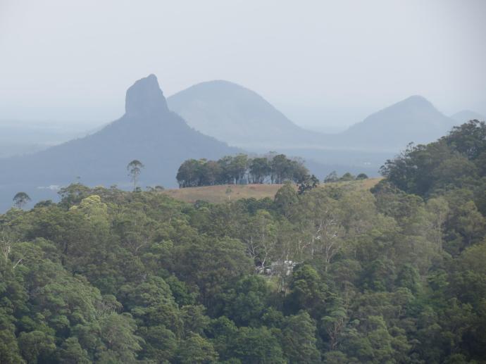 Bushfires create a smoky, hazy atmosphere