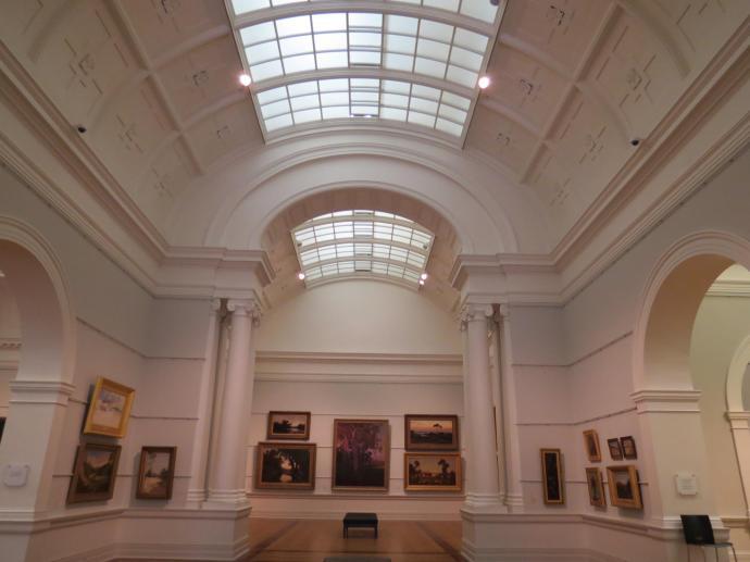 The soaring ceilings