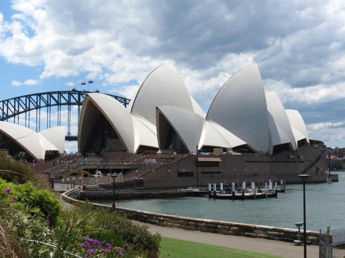 Side by side with another symbol of Sydney