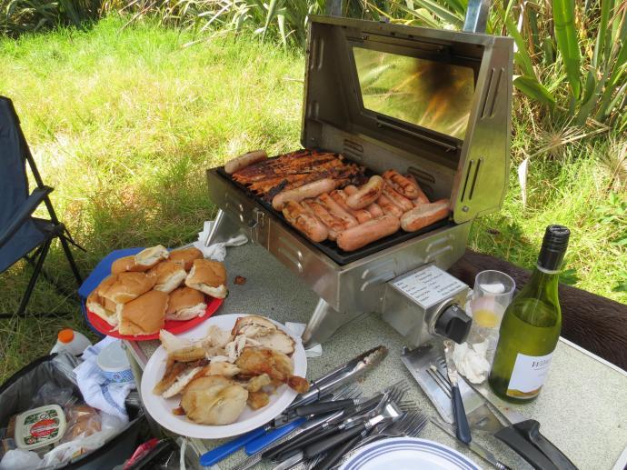 Yummy traditional New Zealand BBQ tucker....
