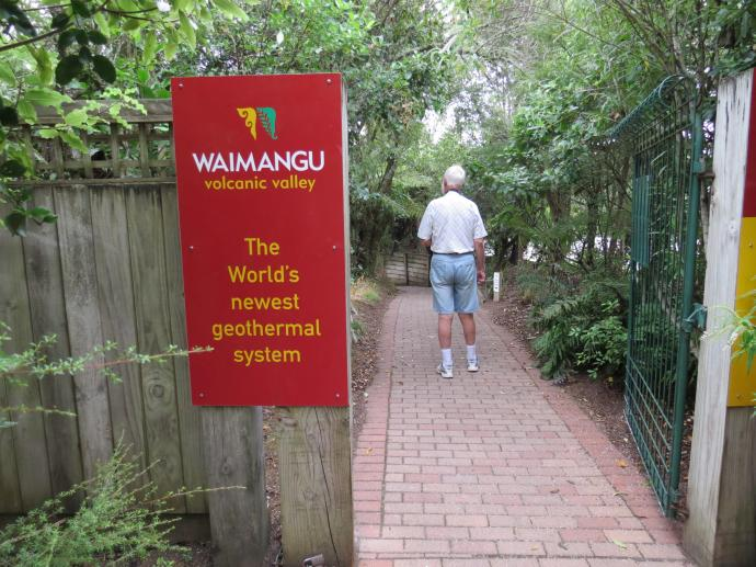 Entering the Geothermal system of Waimangu
