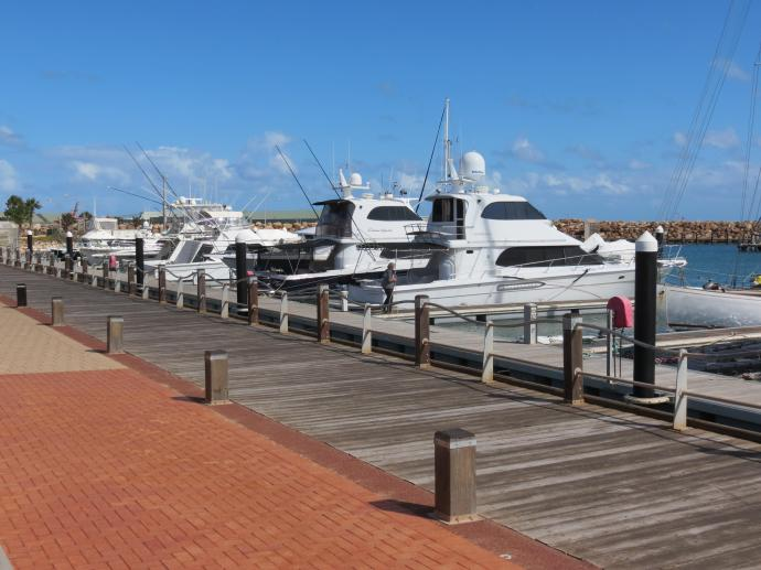 The Mariner is home to many luxury yachts and sailing boats