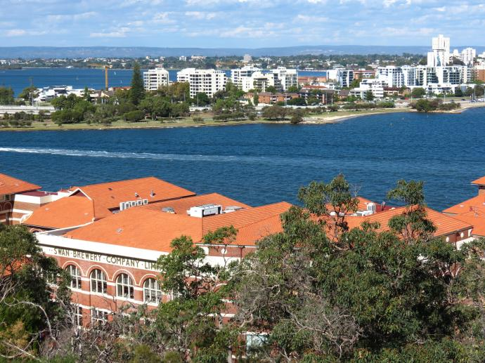 Perth on the other side of the Swan River