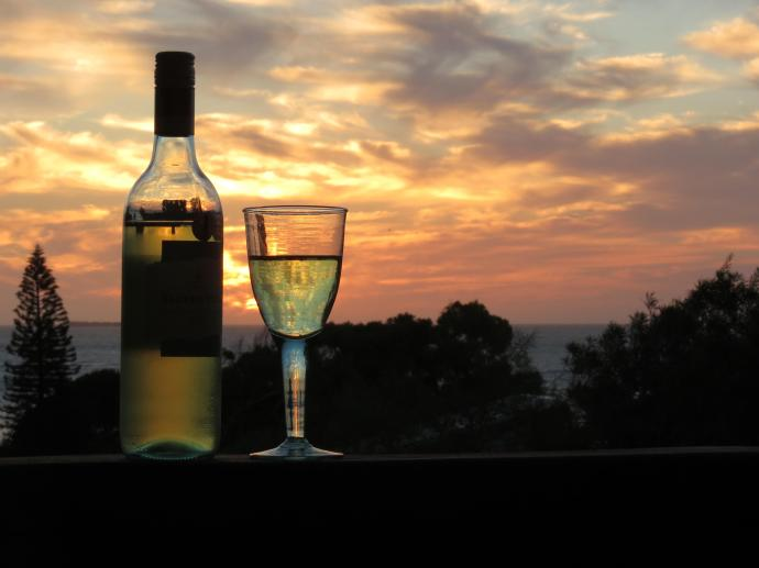 Have a glass of wine and watch the sun set