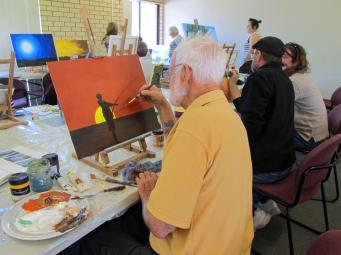 Jack and his Aboriginal themed art