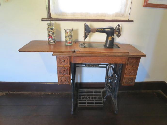 Essential sewing machine, all clothes had to be hand made